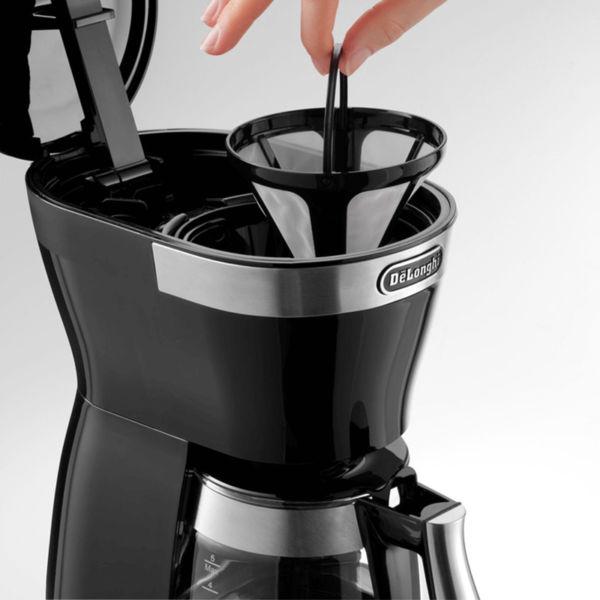 Máy pha cafe DeLonghi ICM12011 sử dụng bộ lọc vĩnh viễn