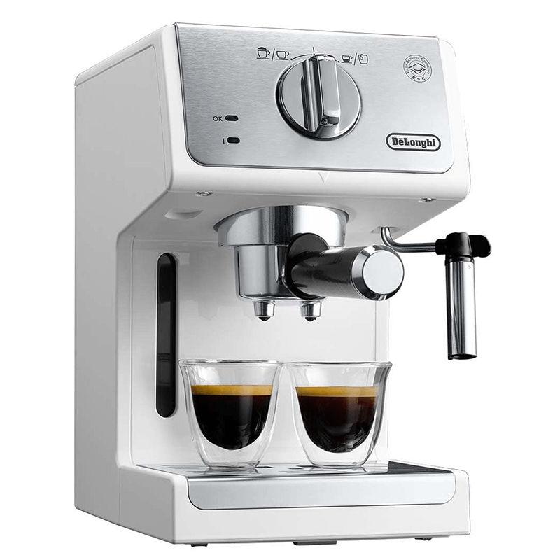 Máy pha cafe ECP33.21 với 2 vòi rót có thể pha cùng lúc 2 ly cafe