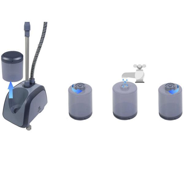 Ngăn chứa nước bàn ủi Electrolux E5GS1-89BM dễ dàng tháo rời