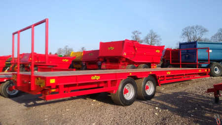 HERBST Bale Trailer 32ft Heavy Duty, 19T Gross - New - In Stock in Herbst Red
