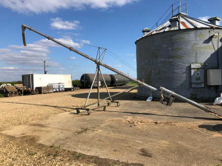 """ASTWELL 44ft Grain Auger 6"""", 3 Phase"""