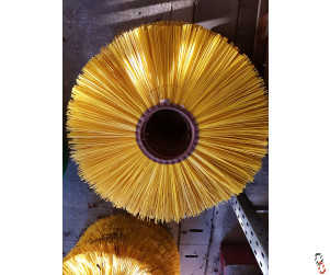"Rotary Poly brush segment 27"" OD 7"" ID, yellow"