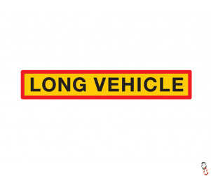 "'Long Vehicle' Sign - 50"" x 9"""