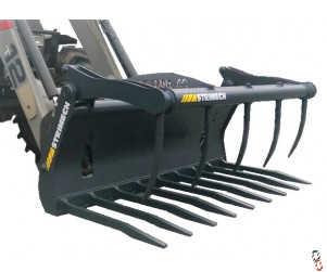 STRIMECH PRO-AG Powerdox Muck Grabs - High Tensile Hardox Tines - for Telehandlers, Loaders & Skidsteers - In Stock!
