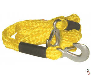 3 Tonne Tow Rope 3.5m c/w HD Hooks & On Tow sign