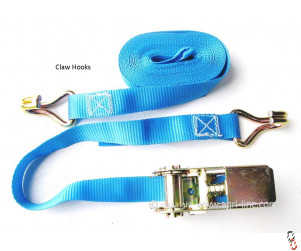 Compact 25mm Ratchet Straps Set 800kg