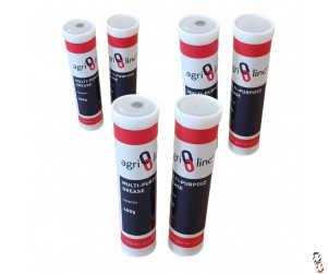 Lithium Grease Gun Cartridges, Lithium EP2 Grease Tubes (6 Cartridges)