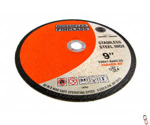 "Grinder 9"" 230x2x22mm Flat centre Cutting Disc"