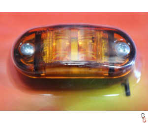 LED Marker Lamp 12/24V Amber (side)