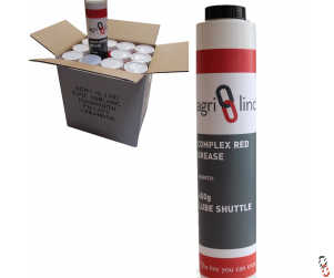 Grease Cartridge EP2 Lube Shuttle 400g Complex Red Lithium Grease, Box of 12
