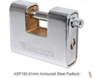 STERLING ASP180 Armoured Steel Padlock 81mm