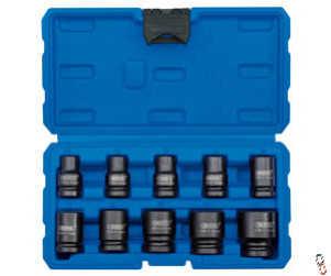 Draper 10 Piece 1/2 Sq Drive Socket set