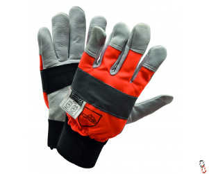 Forestry Cut Protection Cowhide Leather Glove, Range of Sizes