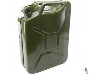 Jerry Can 10 Litre Fuel - Green Metal