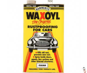 Hammerite Waxoyl Clear was rustproofing treatment, 5L refill can