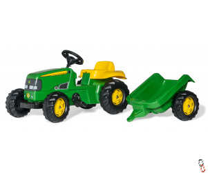 RollyKid John Deere Ride on Tractor and Trailer