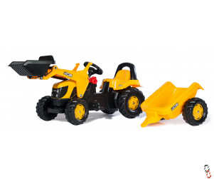 Rollykid Farm Toy pedal tractor with front loader and trailer, Ride-On