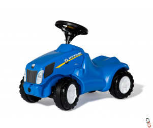 Rollykid Farm Toy New Holland T6010 Push Tractor Ride-On