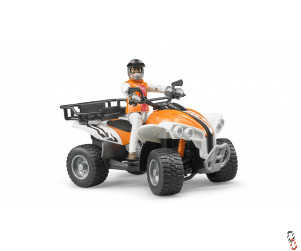 Bruder Quad Bike c/w Driver 1:16 Farm Toy