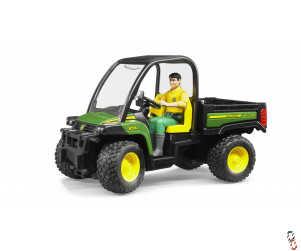 Bruder John Deere Gator 855D c/w Driver 1:16 Farm Toy