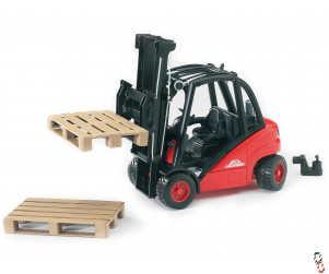 Bruder Linde H35 Forklift c/w 2 pallets 1:16 Toy