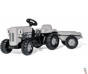 Rollykid Little Grey Fergie Pedal Tractor & Trailer