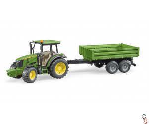 Bruder John Deere 5115M Tractor c/w Trailer 1:16 Farm Toy