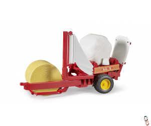 Bruder Round Bale Wrapper c/w Bales 1:16 Farm Toy