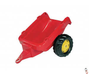 Rollykid Trailer Red, for Rollykid Ride-On Farm Toys