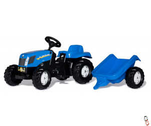 Rollykid New Holland Pedal Tractor & Trailer Ride-On Farm Toy