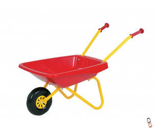 Rolly Toys Red Plastic/Metal Wheel Barrow Toy