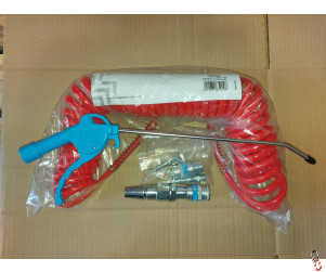 "Blowgun kit c/w 7.5m hose, airline adapter & 9"" blowgun"