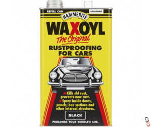 Hammerite Waxoyl black wax rustproofing treatment, 5L refill can