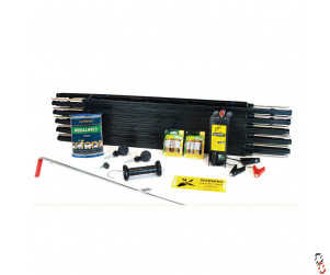 Agrifence Electric Fencing Smallholders Starter Kit AF300 9/12v C/W Polywire & 105cm Posts Ideal For Pigs, Sheep, Goats & Cattle