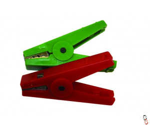 Agrifence spare crocodile clips red & green Pack of 2