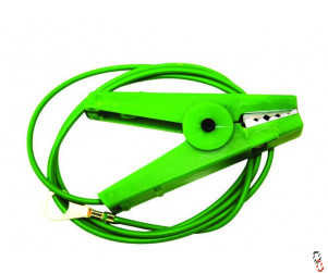 Agrifence earth lead on green crocodile clip