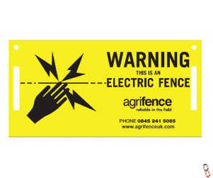 Agrifence electric fence warning signs PK/5
