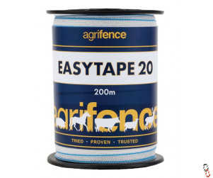 Agrifence Easytape 20mm x 200m white polytape