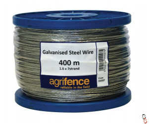Agrifence 7 x1.6mm stand galvanised wire rope, 400m