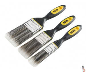 Stanley Synthetic Brush Pack Set of 3, 25, 38 & 50mm
