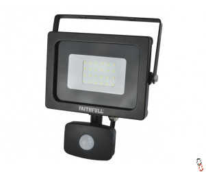 Faithfull LED PIR Floodlight 20W (=200W Halogen) 1600 Lumen