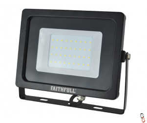 Faithfull LED Floodlight 30W (=300W Halogen) 2400 Lumen