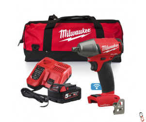 "Milwaukee 18V 1/2"" drive compact impact wrench kit"