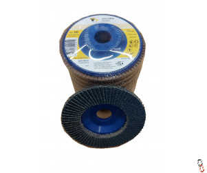 "4.5"" Flap Sanding Disc 60 Grit Depressed plastic centre - Pack of 10"