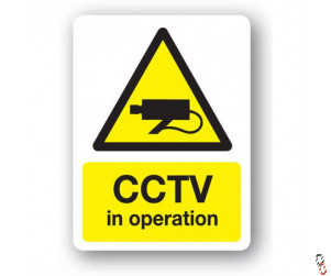 CCTV In Operation Sign 300x400x3mm PVC