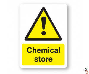 Chemical Store Sign 300x400x3mm PVC