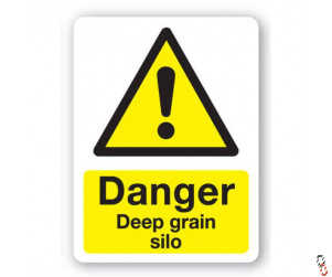 Danger- Deep Grain Silo Sign 300x400x3mm PVC