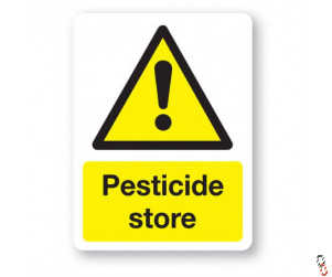 Pesticide Store Sign 300x400x3mm PVC
