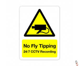 No Fly Tipping Sign 300x400x3mm PVC