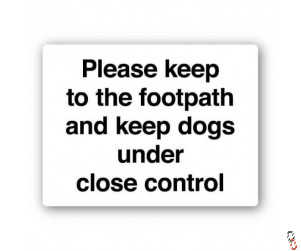 Keep To Footpath Sign 300x400x3mm PVC